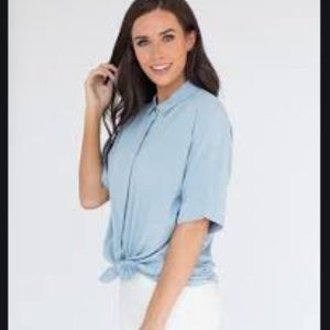 Button Front Relaxed fit Short Sleeve